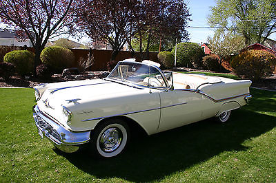 Oldsmobile : Ninety-Eight 2 door convertible 1957 oldsmobile 98 starfire 2 door convertible beautiful
