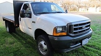 Ford : F-450 XL 7.3 Diesel 2001 f 450 super duty xl 7.3 5 speed flat bed ready to work diesel