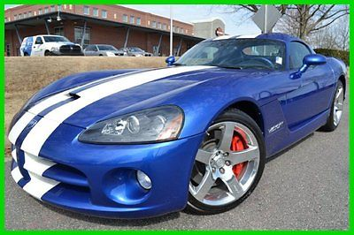 Dodge : Viper SRT10 CLEAN CARFAX 3 OWNERS 7K ORIGINAL MILES!! 8.3 l paxton supercharged first edition 56 of 200 white stripes good tires