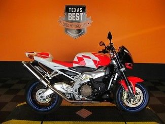Aprilia : Tuono 2008 used fluo red aprilia tuono r 1000 naked super sport bike low miles