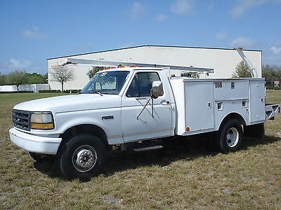 Ford : F-350 HYDRAULIC PTO  153 k miles ford f 450 7.3 diesel 5 speed manual altec utility bed f 350