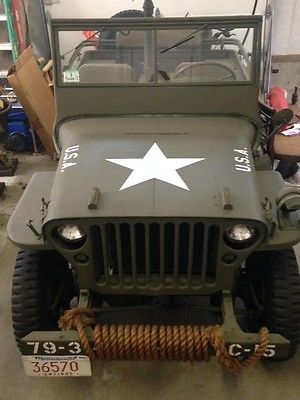 Willys 1945 Jeep-4x4  1945 willys jeep excellent condition only 530 miles