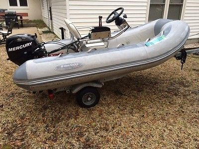 West Marine by Avon 310 inflatable RIB boat/ 15hp Mercury 4 stroke engine