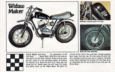 Other Makes : SPEEDWAY WIDOWMAKER SPEEDWAY WIDOWMAKER USED Sachs 80cc 1971 Vintage Black Minibike Restoration
