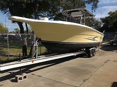 2005 27 ft Angler center console twin 250's trailer included