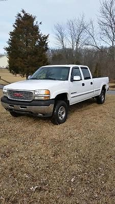 GMC : Sierra 2500 SLE Crew Cab 4 Doors 2001 gmc 2500 hd crew cab long bed 4 x 4 8.1 vortec allision automatic