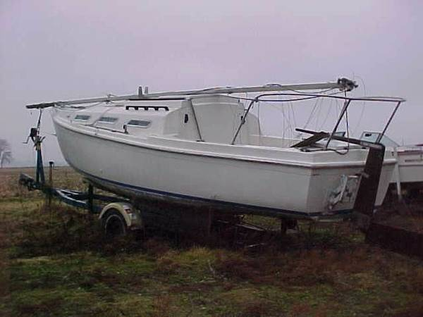 Sailboat 26 ft with trailer sails,rigging,boom mast sailboat trailer