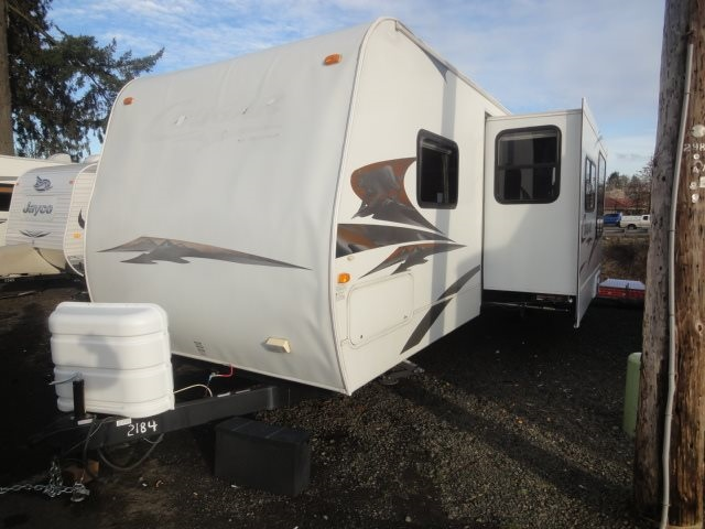 2008 Cougar 30' TOY HAULER DOUBLE BUNKS