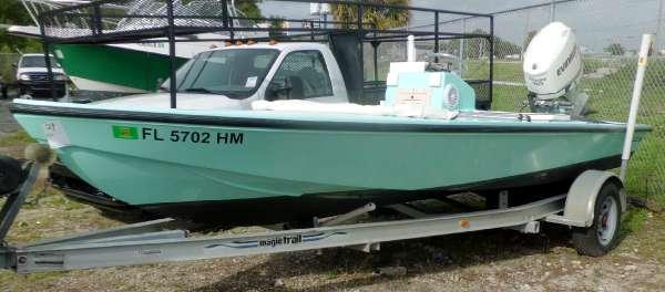 1993 MAKO BOATS 17' CC Flats Boat w 2007 150hp Evinrude E-TEC & Tra