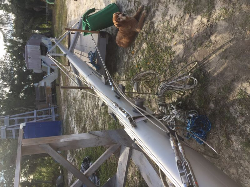 40' Aluminum Sailboat Mast and Rigging
