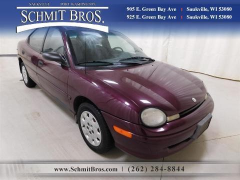 1998 Plymouth Neon 4 Door Sedan