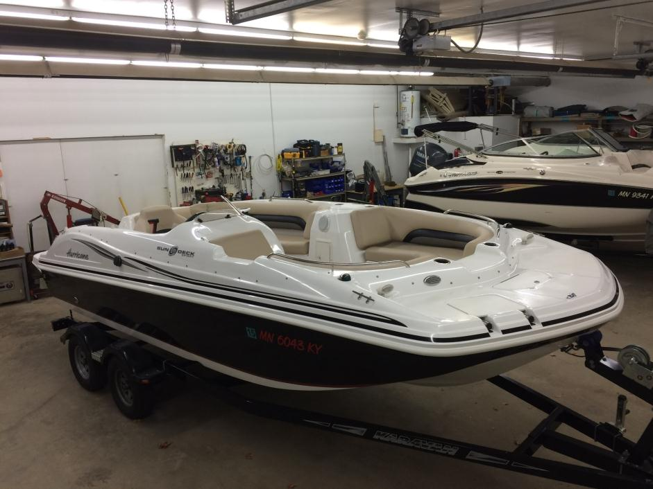 Hurricane deck boat 4 3l boats for sale for Hurricane sundeck for sale
