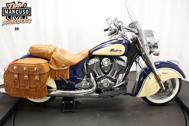 2017 Indian Chief Vintage Springfield Blue Over Ivor