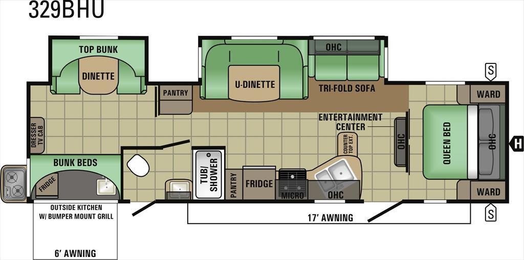 2017 Starcraft Autumn Ridge 329BHU Two Bedroom Double S