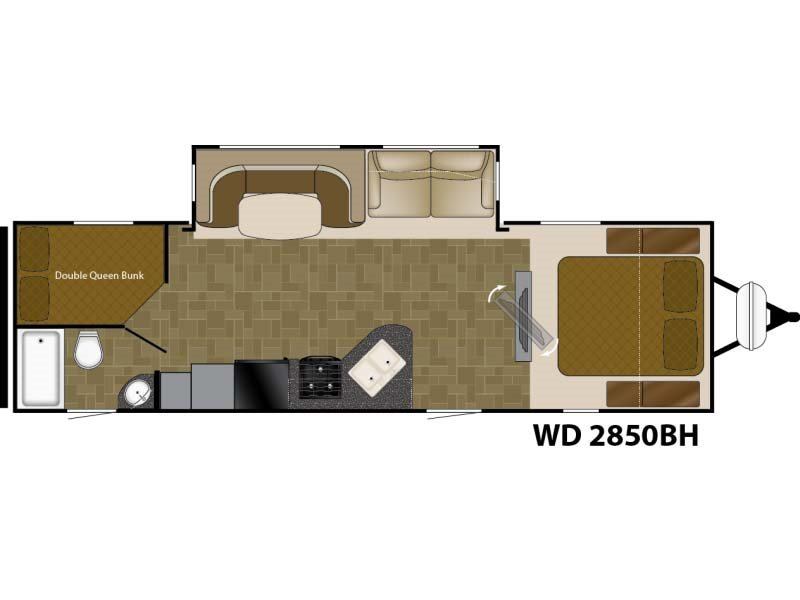 2017  Wilderness by Heartland  WD 2850 BH
