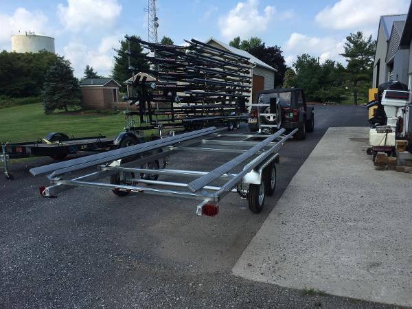2016 hot summer industries 24 Pontoon Trailer Demo, Pick up