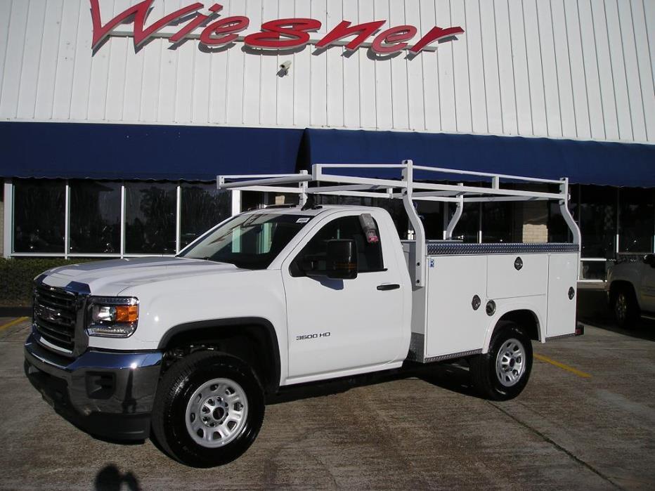 2017 Gmc Sierra 3500 Hd Reg Cab Utility - 2wd - Gas  Utility Truck - Service Truck