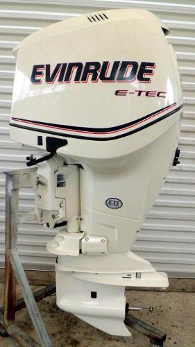 """2010 Evinrude E-TEC 250hp 25"""" Shaft DI 2-Stroke Outboard Motor w/ War, 2"""