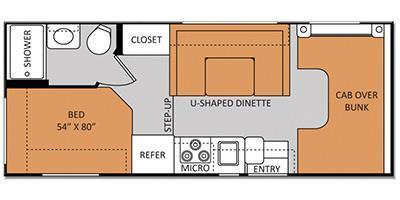 2014 Thor Motor Coach Freedom Elite 22E Corner Bed/Bath, U-sha