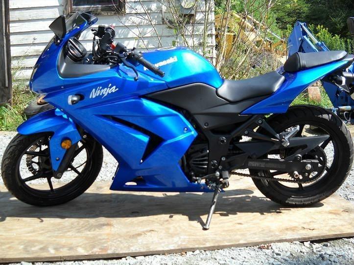 2008 250 ninja blue motorcycles for sale. Black Bedroom Furniture Sets. Home Design Ideas