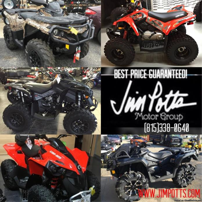 SALE! ALL NEW CAN-AM 4-WHEELERS BEST PRICE GUARANTEED! New units starting at...