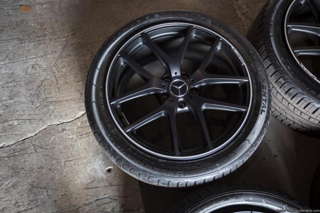 21 INCH MECEDES BENZ WHEELS AND TIRES