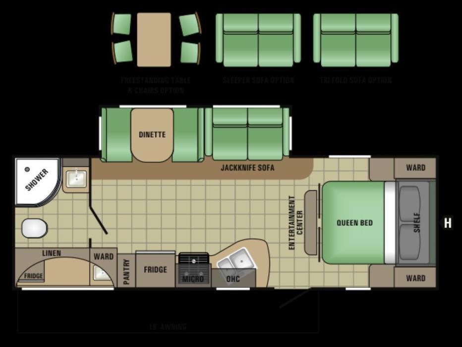 2017 Starcraft Launch Ultra Lite 25 RBS