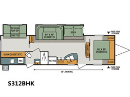 2017 Kz Rv Spree S312BHK
