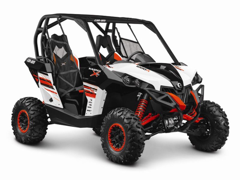 2014 Can-Am Maverick X rs DPS 1000R White, Black & Can-Am Red
