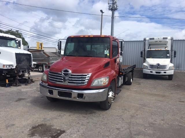 2010 Hino 258lp  Flatbed Truck