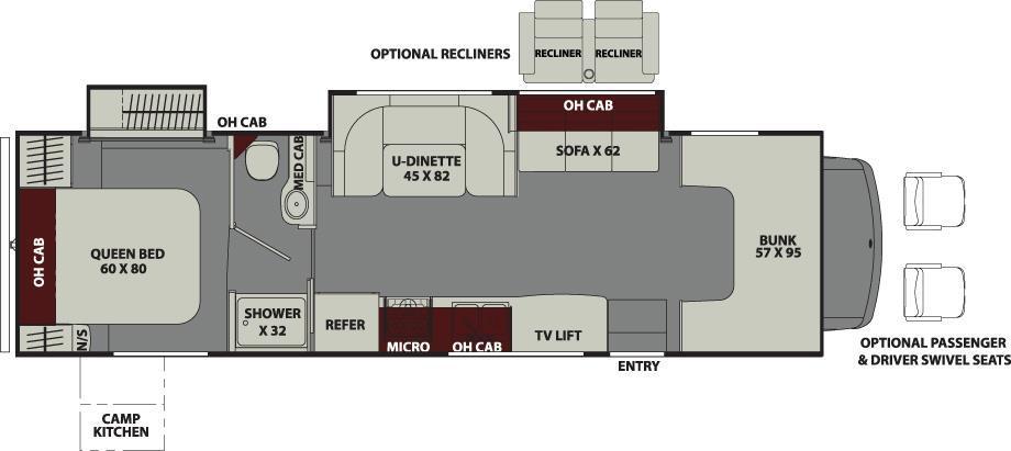 2018 Coachmen Leprechaun 319MB RV for Sale @ MHSRV Recliners, Jacks,