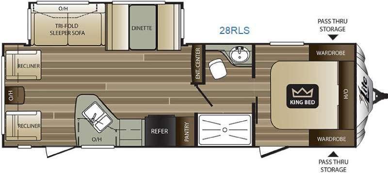 2016 Keystone Rv Cougar X-Lite 28RLS
