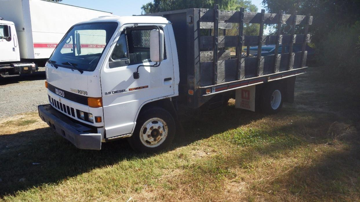 1986 Isuzu Npr Efi  Flatbed Truck