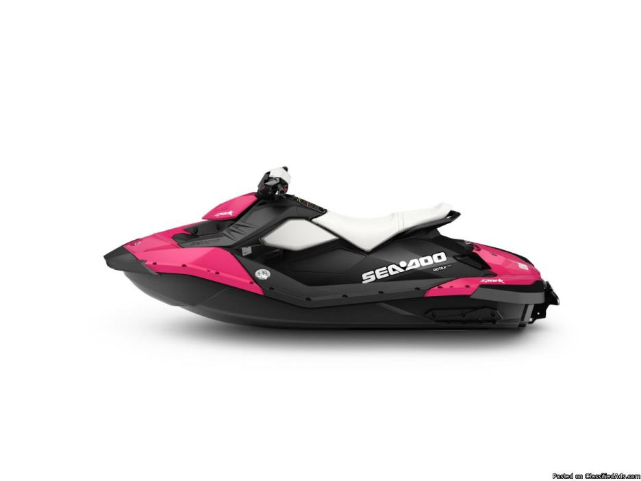 CLEARANCE SALE! BRAND NEW 2015 Sea-Doo Spark 2up 900 IBR / Conv in RARE...