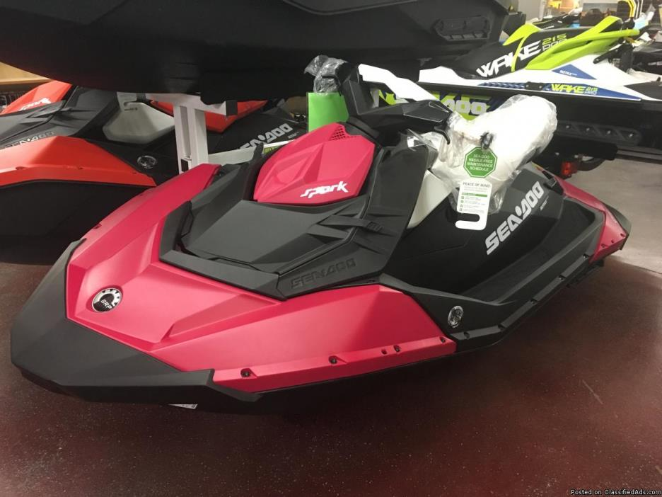 SALE! NEW 2015 Sea-Doo Spark 2up 900 IBR / Conv in RARE BUBBLEGUM PINK. BEST...
