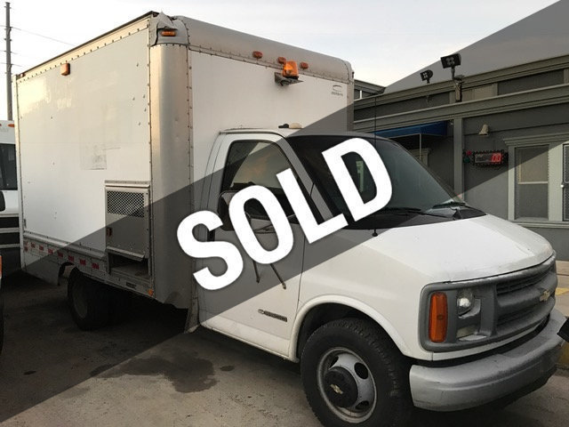 2001 Chevrolet G3500 Cut A Way Cube Van With Honda Generator Box Truck - Straight Truck