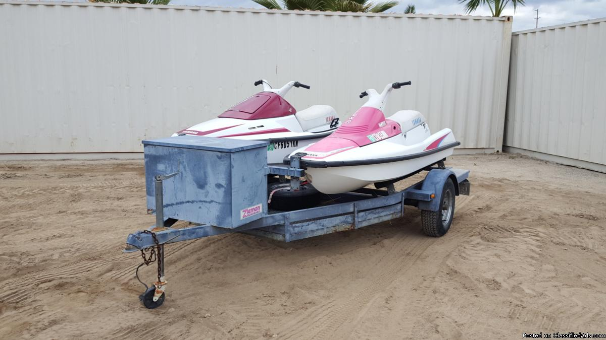 (2) 1992 YAMAHA PERSONAL WATERCRAFT W/TRAILER