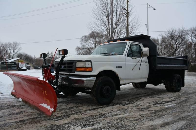 1994 Ford F Super Duty Dump Truck W/ Plow Dump Truck
