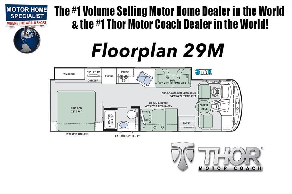 2018 Thor Motor Coach Windsport 29M RV for Sale at MHSRV W/Dual A/C, 5.5 Gen,