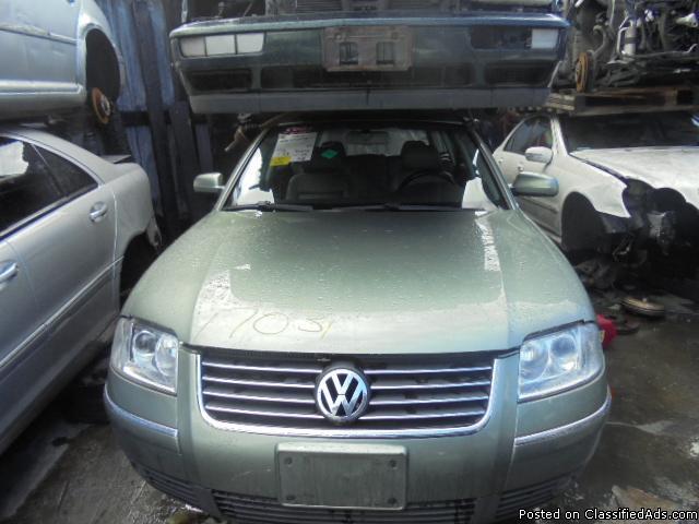 Parting out - 2003 VW Passat - Green - Parts - 17031