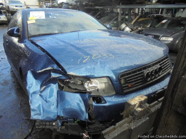 Parting out - 2004 Audi A4 - Blue - Parts - 17033
