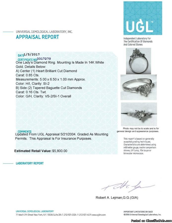 Beautiful Heart Shaped Diamond Engagement Ring