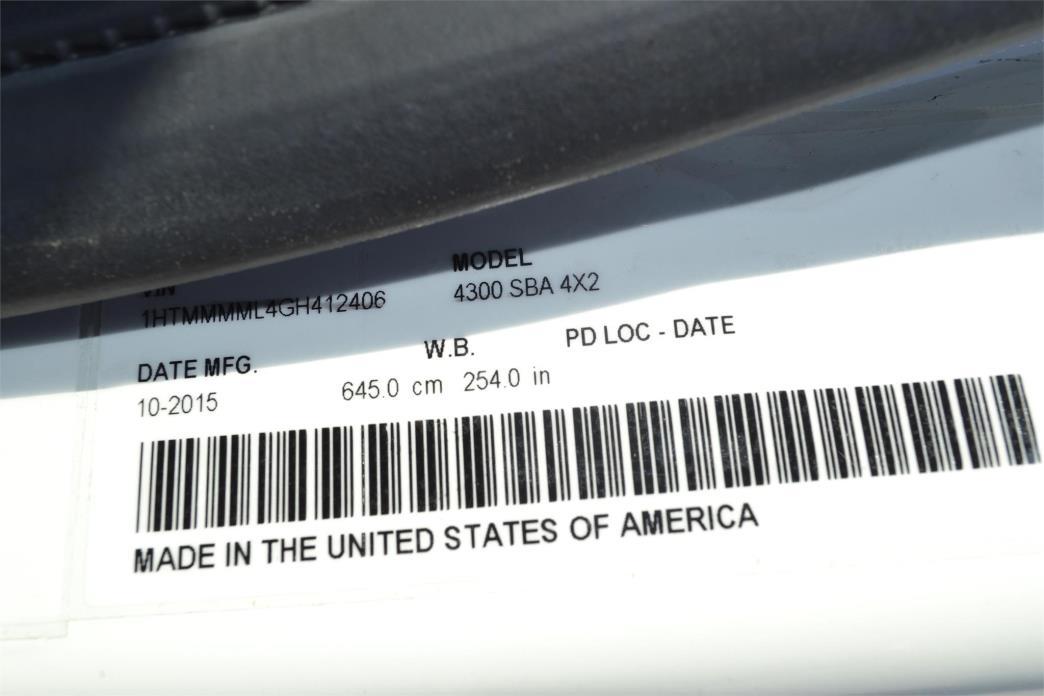 2016 International Durastar 4300 Cab Chassis, 8