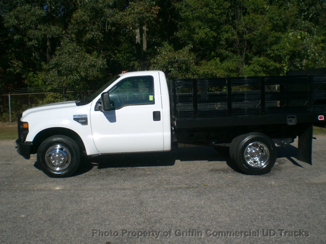 2009 Ford F350 Drw Rack Flatbed Lift Gate Just 11k Miles  Flatbed Truck