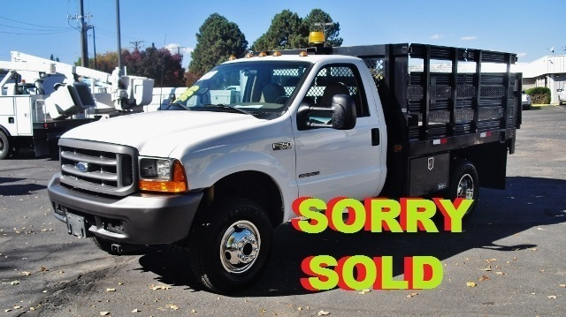 2001 Ford F350 Flatbed Truck