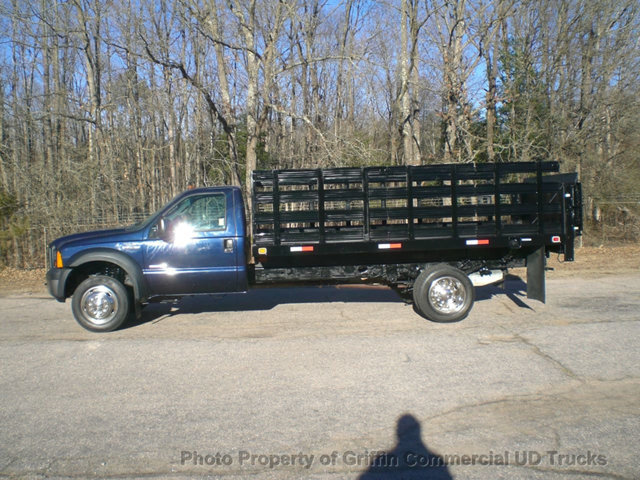 2006 Ford F450 Just 13k Miles One Owner Rack Lift Gate  Flatbed Truck