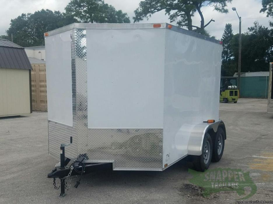 Enclosed Cargo 7x 10 ft. with Two 3.5K Axles and Additional Height - Sharp...