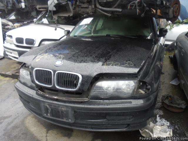 Parting out - 1999 BMW 323 - Black - Parts - 17028