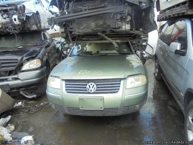 Parting out - 2004 VW Passat - Green - Parts - 17023