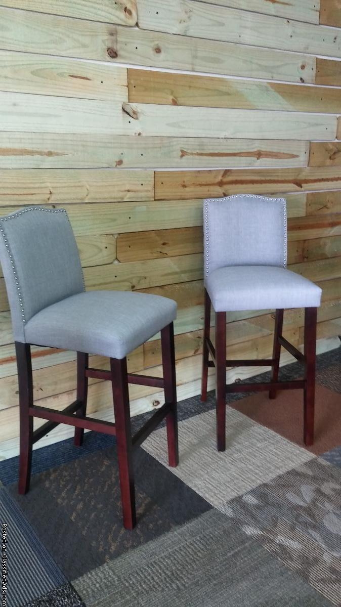 Two new Light grey Bar stools